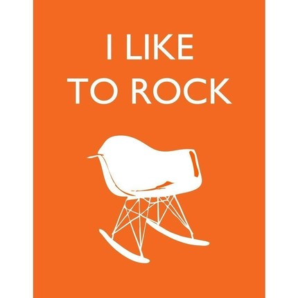 Who could resist rocking out with this I Like to Rock ($18) poster?