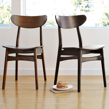 These  new Oval Back Dining Chairs ($159) from West Elm have a midcentury modern sensibility and a casual elegance that will complement any dining room.