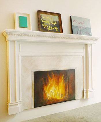 Cool Idea: Fireplace Painting