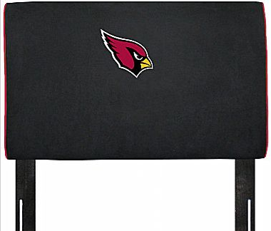 How can you fall asleep with the intimidating cardinal on this NFL Headboard ($239–279) glaring over your head?