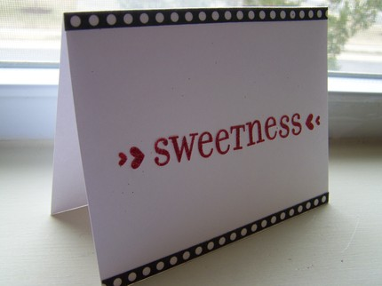 Adore your honey? The Sweetness Card ($3) announces your feelings.