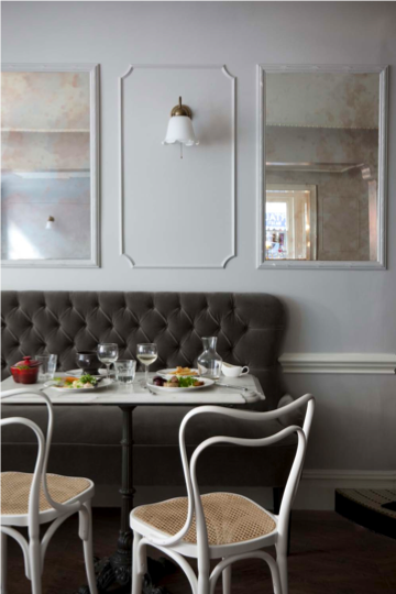 Have you ever noticed how restaurants have booths? There's a reason for that: it's called comfort. Your sofa needn't be reserved for the living room. Try putting one in an open plan kitchen/dining room to make your leisurely meals all the more at ease.