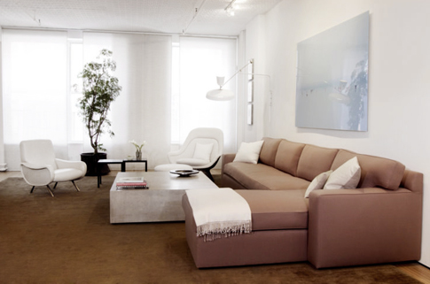 The feel of the apartment is serene, minimalistic, and balanced.