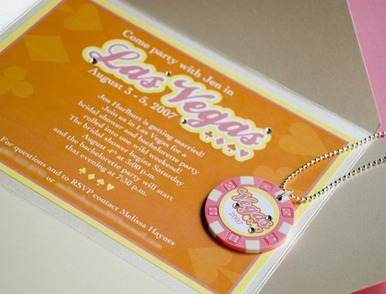 The Card Shop: Vegas Bachelorette Invites
