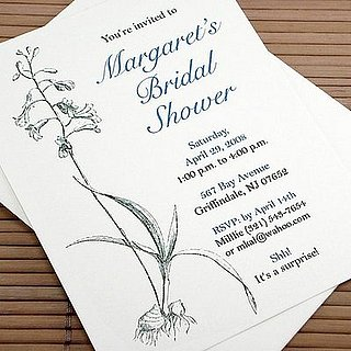 The Card Shop:  A Botanical Bridal Shower