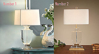 Less or More: Crystal Table Lamp