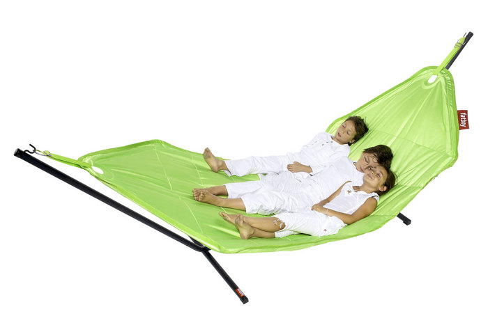 Yes, you can sew a hammock for next to nothing, but this Headdemock ($399) from Fat Boy is built for cuddling with your sweetie or kidlets. Who can say no to that?
