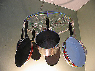 Cool Idea: Bicycle Wheel Pot Rack