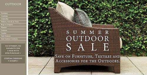 Sale Alert: Restoration Hardware Outdoor Sale