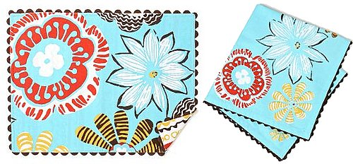 Summer Style: Hibiscus History Placemats and Napkins
