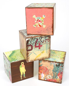 DIY: Collage Blocks