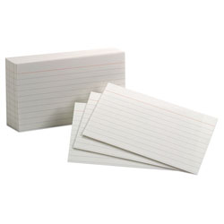 Who needs pastels when these  Recycled Index Cards ($2.89) are a scholastic vision in white?