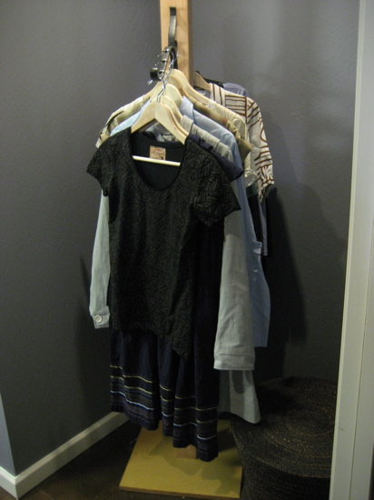 I love this solution for weekly outfits in the master bedroom's dressing room closet. It would make getting ready for work a breeze.
