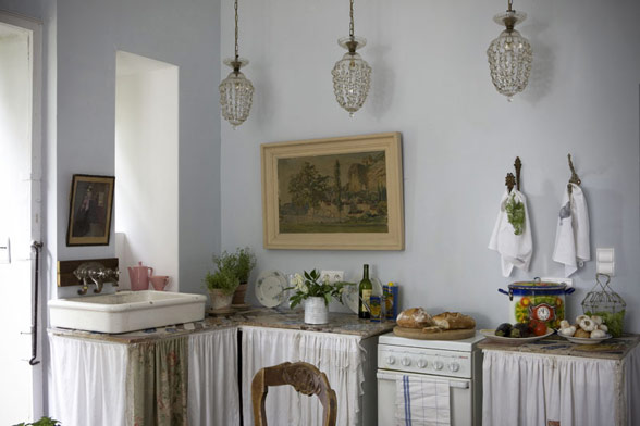 Minuscule appliances are classic French, even in a large home.