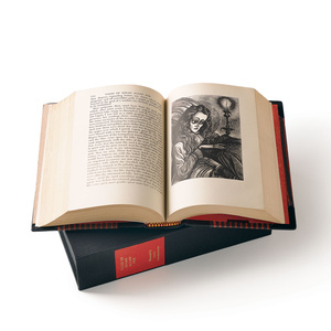 Splurge on this extra special copy of Edgar Allen Poe's stories,  Fritz Eichenberg's Tales of Edgar Allen Poe ($1,495). It's filled with stunning wood engraved illustrations and bound in black Moroccan leather.