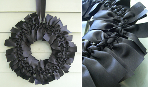 Tis the season to make a spooky wreath. Source