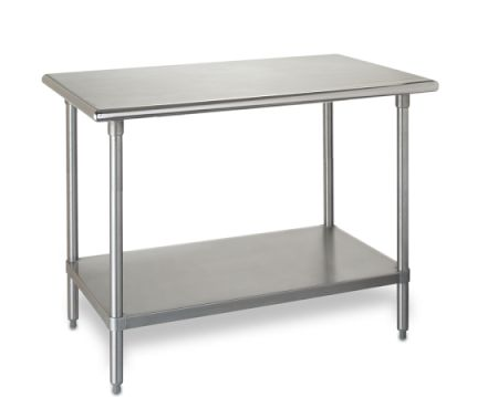 The Williams-Sonoma Stainless Steel Workbench ($725) will give your kitchen an industrial vibe, but you've still got to do all the cooking.