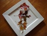 A paint pen and some leaves mean instant place cards!