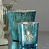 Steal of the Day: Cool Blue Mercury Glass Votive Holders