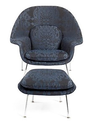 The Proenza Schouler Womb Chair and Ottoman caught my eye earlier this month. Source