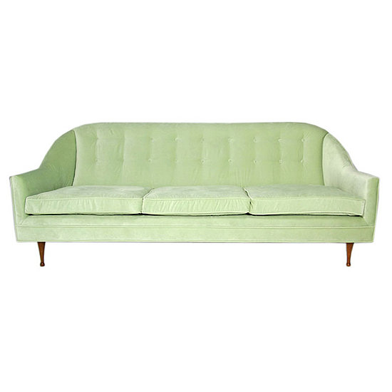 "This Paul McCobb Sofa combines streamlined mid-century styles with a cool velvet upholstery. < ahref=""http://www.1stdibs.com/furniture_item_detail.php?id=178504"">Source"