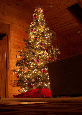 Simply April celebrates with a log cabin Christmas.