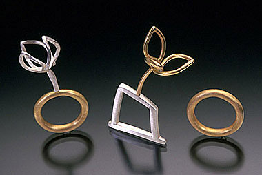 Sarah Hood, jewelry artist :: Jewelry :: Gold & Silver :: Three Rings