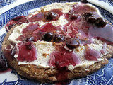 Oatty Nutty Pancakes with Blueberry Syrup and Cashew Cream