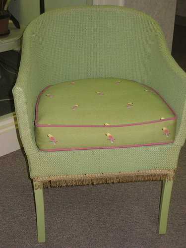 Custom Cushion for Wicker Chair