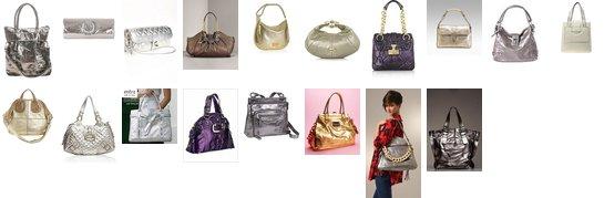 What's hot now: Metallic handbags