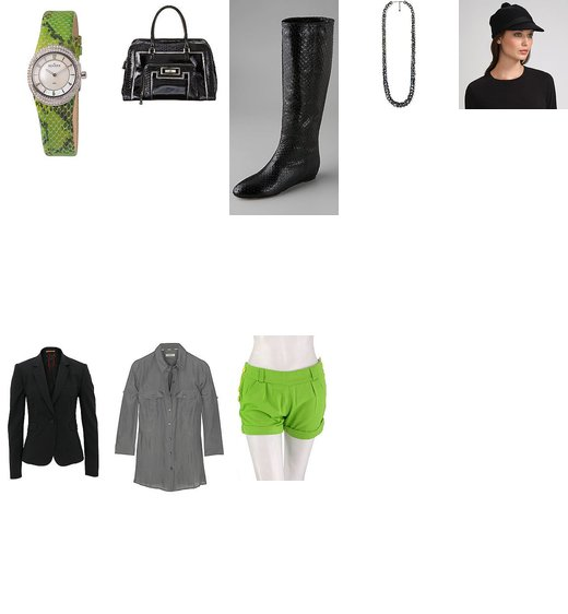 Somewhat Formal Vibe with Lime Green Shorts