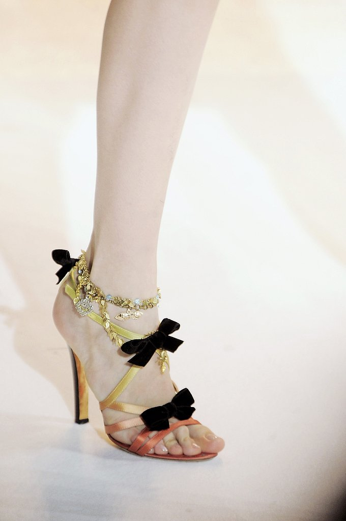 Lacroix's Dip Dyed and Bowed Sandals