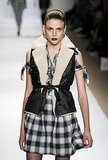 A Shearling Vest Atop a Plaid Frock at Ronson
