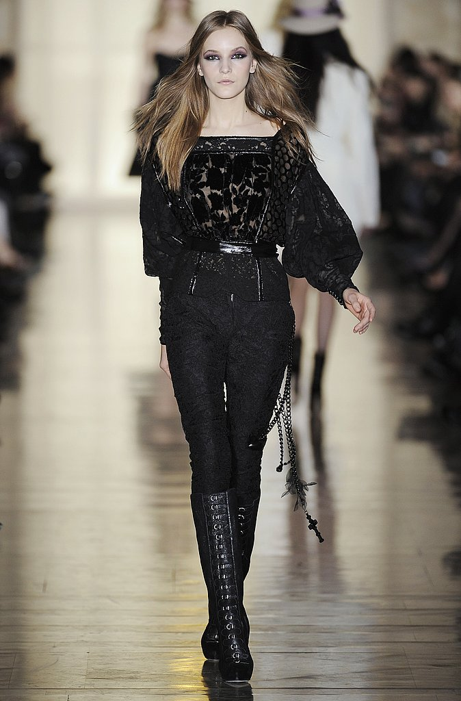 Jill Stuart's Vampire Recipe: Black, Lace, Velvet, and Blouson Sleeves