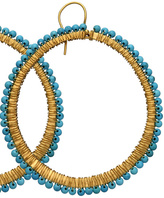 The Look For Less: Lisa Stewart Turquoise Hoop Earrings