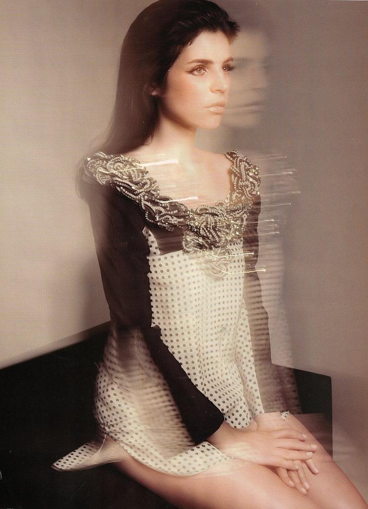 Girls on Film: Julia Restoin Roitfeld, Harper's Bazaar UK, April '09