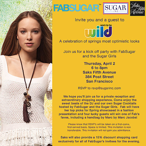 Join Fab and Saks for a Wild Spring Shopping Event!