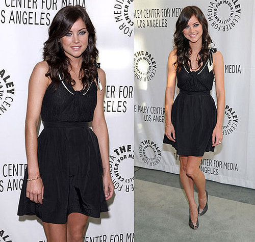 90210 Star Jessica Stroup Attends PaleyFest09 Wearing See by Chloe Dress and Chloe Shoes