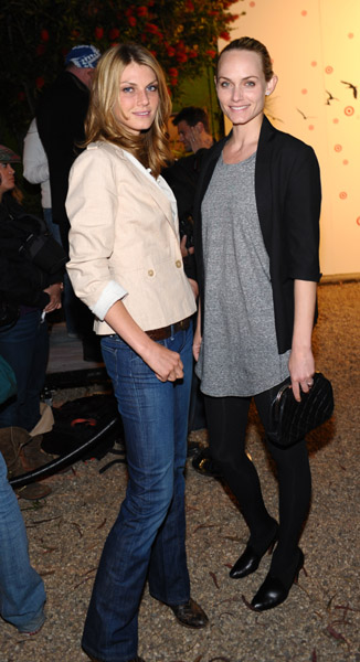 Angela Lindvall and Amber Valetta