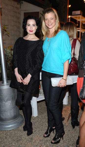 Dita von Teese and Amy Smart