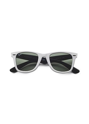 Fab Celebrates Spring With Saks: Taste the Rainbow With a Pair of White Ray-Ban Wayfarers