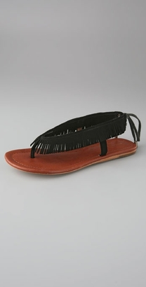The Look For Less: Twelfth St. by Cynthia Vincent Cree Fringe Flat Thong Sandal