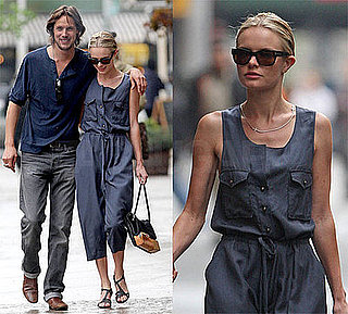 Kate Bosworth and Her Boyfriend Stroll NYC, Kate Wearing a Phillip Lim Jumpsuit and Tom Ford Sunglasses