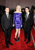 Raquel Zimmermann With Lazaro Hernandez and Jack McCollough of Proenza Schouler