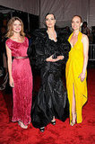 Natalia Vodianova, Shalom Harlow, Amber Valletta