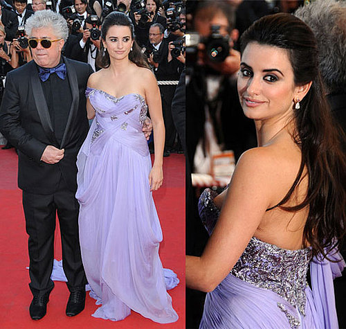 Penelope Cruz at the Cannes Film Festival in Lavender Marchesa Gown