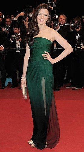 Actress Rachel Weisz Attends the Agora Premiere at the Cannes Film Festival in Green Valentino Gown
