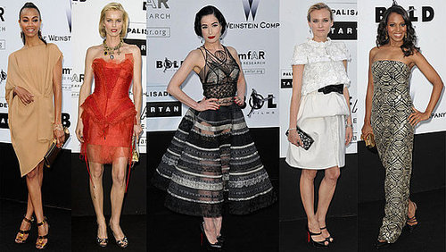 Zoe Saldana, Dita Von Teese, and Diane Kruger Attend amfAR Cinema Against AIDS at 2009 Cannes Film Festival
