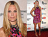 Molly Sims Attends 2009 Webby Awards Wearing Sequined Red and Pink Marchesa Dress