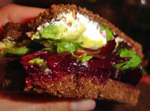 Recipe For Roasted Beet Sandwich With Avocado, Goat Cheese, and ...